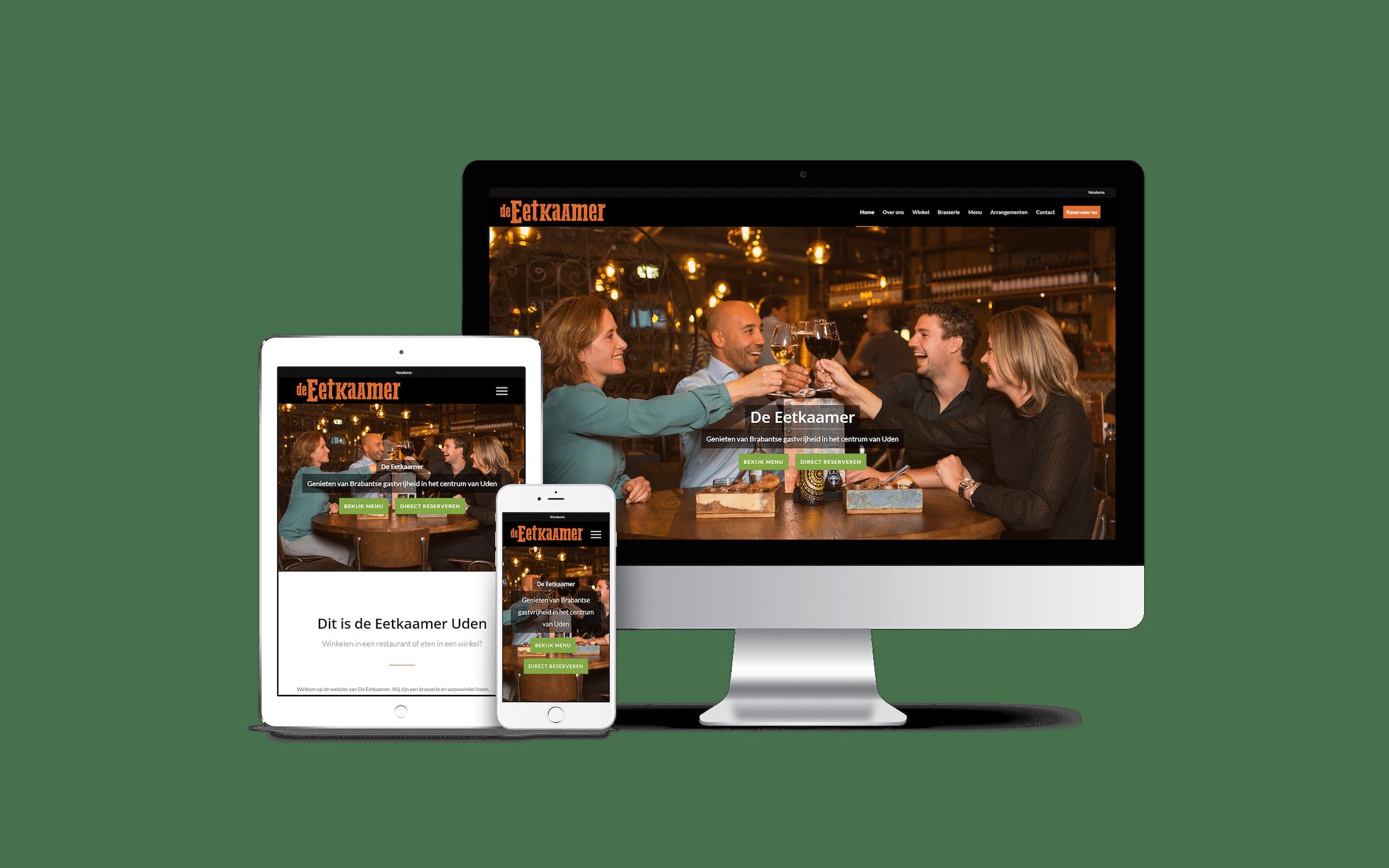 De Eetkaamer - website voorbeeld