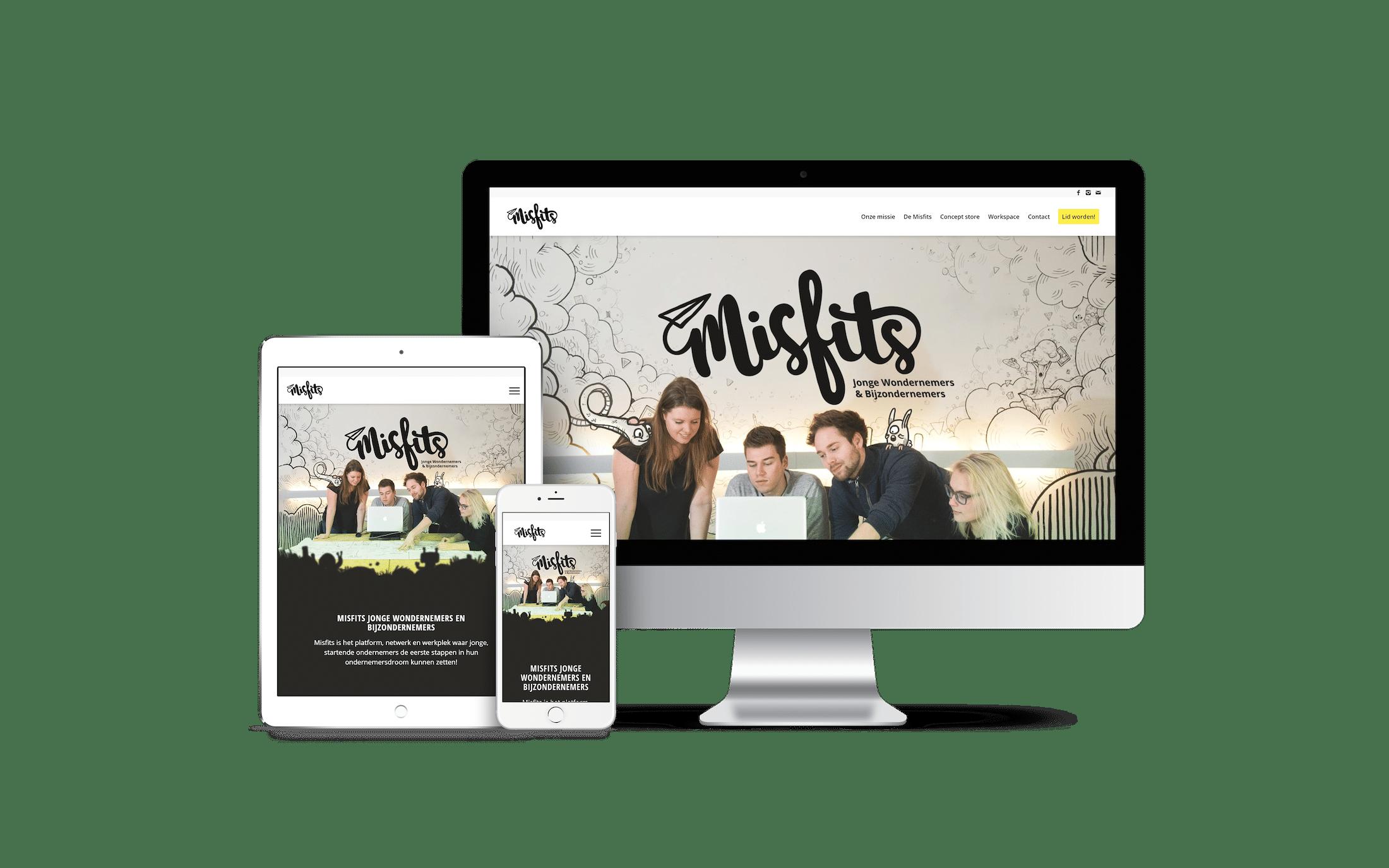 Misfits Uden - website voorbeeld