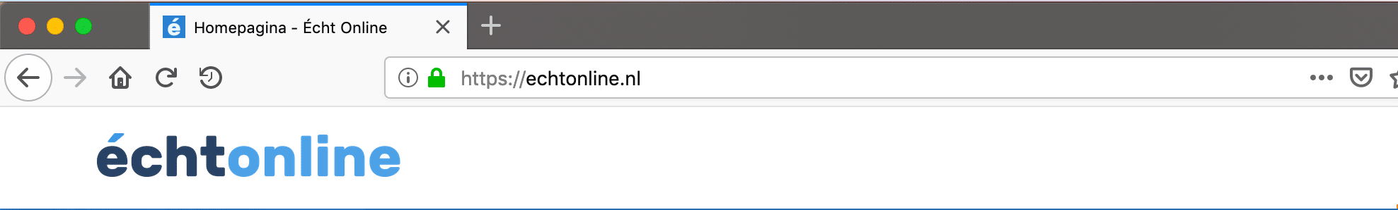 Echt Online is beveiligd met een SSL certificaat